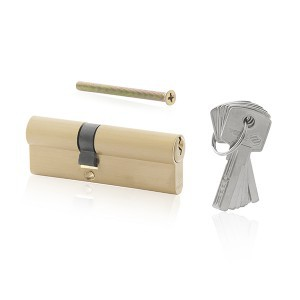 LOCK CYLINDER 87 MM 36/51 BRASS