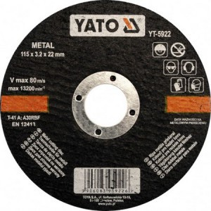 METAL CUTTING DISC 125X1,2X22