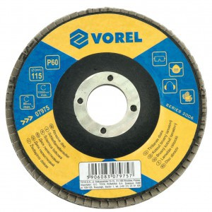 ABRASIVE DISC - VELCRO P60 125MM