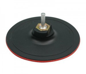 RUBBER DISC FOR ANGLE GRINDER WITH BOLT