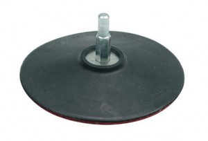 RUBBER DISC WITH VELCRO 125MM