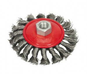 BEVEL BRUSH - TWISTED WIRE   100MM