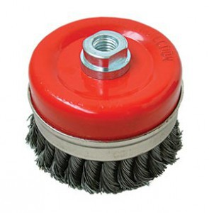 CUP BRUSH - TWISTED WIRE  80MM