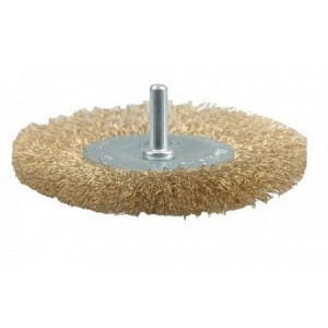 CIRCULAR BRUSH - CRIMPED WIRE  100MM