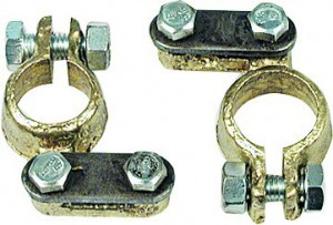 BATTERY CLAMPS  2PCS