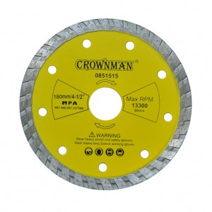 Diskas deimantinis turbo 3 žvaigžd. 180 mm 0851580 Crownman (25)