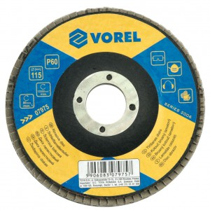 ABRASIVE DISC - VELCRO P80 125MM