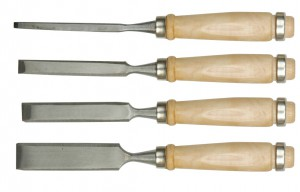 WOOD CHISEL SET 4PCS 6-24MM