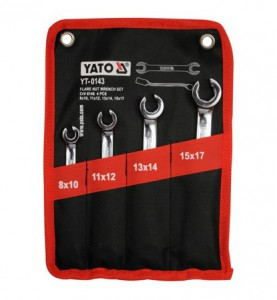 4 PCS SET OF FLARE NUT WRENCHES