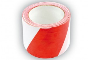 PVC LANE MARKING TAPE WHITE-RED 100M